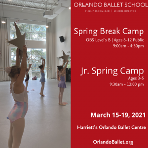 Orlando Ballet Jr. Spring Break Camp