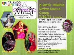 WORLD DANCE WORKSHOPS Divine Dance Camp